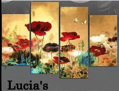 4PCS-100-Handmade-Abstract-Modern-Art-Oil-Painting-Wall-Decor-canvas-no-frame