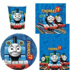 Thomas the Tank Engine Party Tableware Pack for 8: Amazon.co.uk: Toys & Games