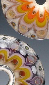 Lampworked Glass Bead by Kristina Logan