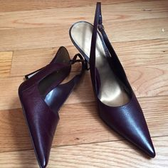 """Nine West sexy """"Berry"""" (purple) sling backs. New!!! Still in original box. Never worn. About 3 in. heel. Nine West Shoes"""