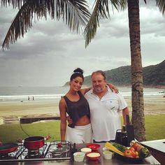 """WEBSTA @ aline_riscado - E logo mais tem @programapanico com meu quadro """"A Riscado"""" e a presença do queridíssimo jurado do Master Chef: Erick Jacquin!!!! Não percam!!!!! Começa as 21:15"""