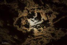 Full moon through the clouds by SamuelNesbitt