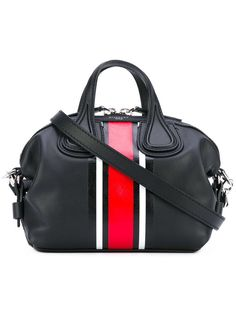 SS17 GIVENCHY NIGHTINGALE MICRO TOTE BLACK RED WHITE STRIPED BAG BB05095-727-009 #GIVENCHY #TOTEHANDBAG