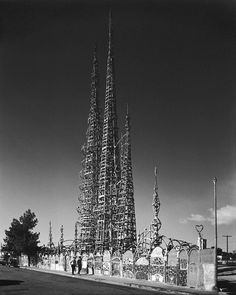The Watts Towers or Towers of Simon Rodia in the Watts district of Los Angeles, California.