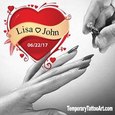 Custom Tattoo - Wedding, Dating Engagement Parties