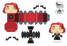 Dans la famille des papertoys Marvel, nous voulons la Veuve Noire… Bonne pioche avec ce mini-papertoy Black Widow de Gus Santome, qui décline actuellement tous les personnages de la super-production Avengers 2012. Vous avez bavé devant la pulpeuse Scarlett Johansson, ce…