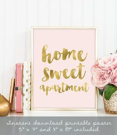 home sweet apartment poster / wall art print by JadeForestDecor