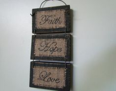 Popular items for wood and burlap sign