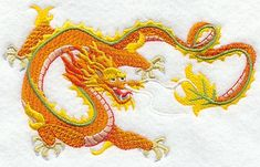 RP: Machine Embroidery: Chinese Golden Dragon