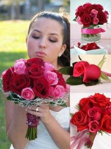 Pink and Red Wedding Flowers | The Wedding Specialists