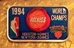 SW-6EN HOUSTON ROCKETS 1994 NBA BASKETBALL Enamel 999 SILVER ART BAR 1 Troy oz