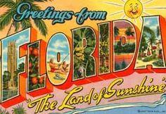 vintage FL postcard
