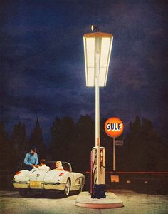 1959 Gulf Oil ad detail.
