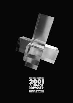 """the key to find my way through this multi layered film, was its subtitle """"a space odyssey"""". Space already indicates the three dimensions but """"odyssey"""" reflects the forth one, time. The object depicted, a hypercube, illustrates these four dimensions. It is the spread of a four dimensional cube in three dimensions. The hypercube floating in space, tries to evoke the feeling of the movie spaceship whirling in the universe."""