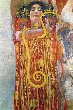 Hygeia, by Gustav Klimt