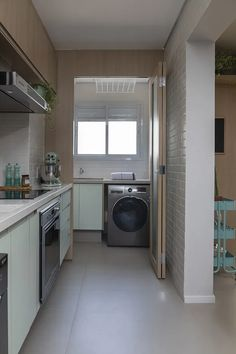 Outdoor Laundry Rooms, Modern Laundry Rooms, Laundry In Kitchen, Laundry Room Design, Home Room Design, House Design, Modern Kitchen Design, Interior Design Kitchen, Home Decor Kitchen