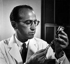 Dr. Jonas Salk, polio vaccine