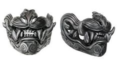 Lion of the Wind half mask metallic by mostlymade