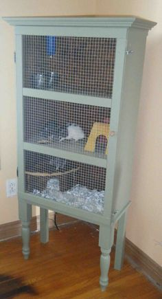 Great ideas for homemade rat cages....