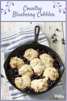 This easy Country Blueberry Cobbler is a Southern twist on a classic dessert. Serve with your favorite ice cream for a special treat!