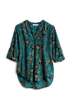 This green/blue color could go with quite a few pieces in my closet! Personal Stylist, Stitch Fix, Floral Tops, Kimono Top, Men Casual, Stylists, Pattern, Mens Tops, Shirts