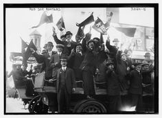 Boston Red Sox fans in 1913 Incredible Vintage Photos Of Sports Fans 100 Years Ago
