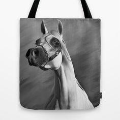 Arabian horse digital painting 2 Tote Bag by Horseaholic - $22.00