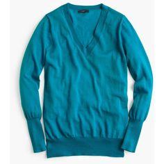 J.Crew Merino Wool V-Neck Sweater ($79) ❤ liked on Polyvore featuring tops, sweaters, v-neck sweater, merino wool v-neck sweater, merino wool tops, j crew tops and merino wool sweater