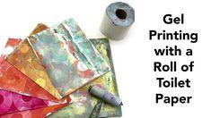 Gel Printing with Toilet Paper - YouTube Paper Collage Art, Paper Art, Gel Press, Gelli Plate Printing, Gelli Arts, Acrylic Painting For Beginners, Circle Art, Toilet Paper, Screen Printing
