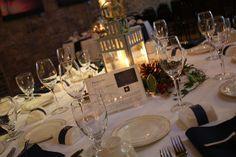 simple and classy winter wedding centerpiece