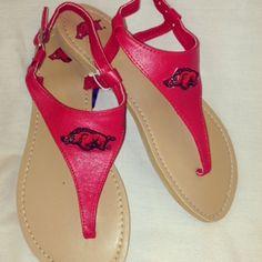 Have these.. love them!                         Women's Arkansas Razorbacks Sandals