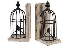Pair of Birdcage Bookends on OneKingsLane.com