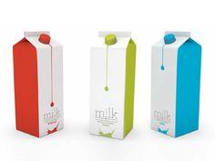 packagings creativos de leche Tago Art work