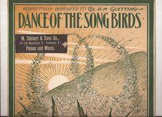Dance of the Song Birds, Composer Benjamin Richmond, Vintage Sheet Music…