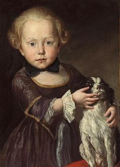Portrait of a young boy with his dog ~ by Antoine Pesne (French, 1683–1757)