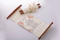 Hey, I found this really awesome Etsy listing at https://www.etsy.com/uk/listing/267386211/20-pc-wedding-invitation-rolled-paper