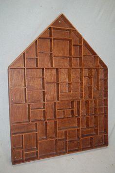 großer Deko Setzkasten hausform Holz älter - z. herrichten ! in Antiquitäten & Kunst, Mobiliar & Interieur, Kleinmöbel & Raumaccessoires | eBay