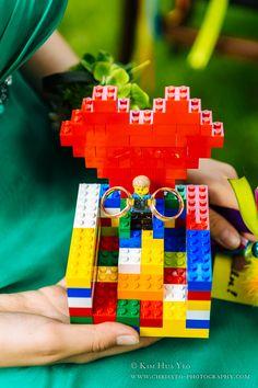 Lego wedding ring bearer, Chase McCain, geek wedding, rainbow wedding, Wedding Luzie and Marcel