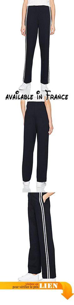 B0769MK11K : Opus Madalgis Stripe Pantalon Femme Blau (Dark Night 6041) W38.