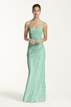 Your wedding party will look effortlessly chic in this endearing lace dress! Style W10329 in Mint at David's Bridal.