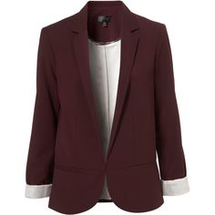 Structured Blazer ($130) ❤ liked on Polyvore