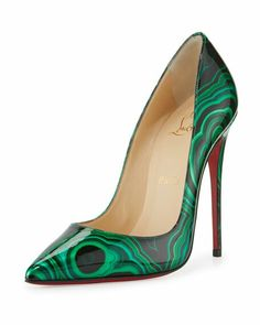 Malachite look  Shoes heels boots