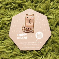Donna Wilson x the little dröm store Brooch – Ginge Cat. http://shop.thelittledromstore.com/product/donna-wilson-brooches-1