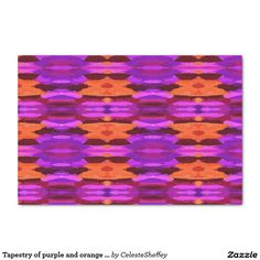 "Tapestry of purple and orange tissue paper 10"" x 15"" tissue paper (sold -CA) thank you!"
