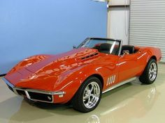 "1968 Corvette in Burnt Orange and ""Slightly Modified"" from stock....sweet ride!. CLICK the PICTURE or check out my BLOG for more: http://automobilevehiclequotes.tumblr.com/#1506280837 #chevroletcorvette1968"