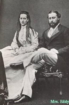 "King Edward VII ""Bertie"" (Albert Edward) (1841-1910) Prince of Wales, UK & wife Princess Alexandra ""Alix"" (Alexandra Caroline Marie Charlotte Louise Julia) (1844–1925) Denmark. Edward VII (Albert Edward) is the 2nd child of Queen Victoria (1819-1901) UK & Prince Albert (1819-1861) Saxe-Coburg & Gotha, Germany. Alix is 2nd child of King Christian IX (1818-1906) Denmark & Louise (Louise Wilhelmine Frederikke Caroline Auguste Julie) (1817–1898) Hesse-Kassel, Germany."