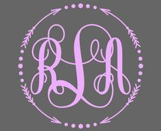 Monogram Decal Monogram Sticker for your car window, cell phone, laptop, iPad, tumbler. - pinned by pin4etsy.com