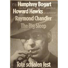 The Big Sleep German poster. 1972 rerelease. Coolness by Bogart. Art by Hans Hillmann