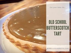 Get Your Bake On: Old School Butterscotch Tart Recipe  My fondest memories of school dinners are of scoffing this pudding. Sticky, sweet, delicious.  Give the recipe a go and relive your childhood!