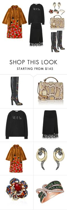 """""""#2167"""" by lovelyfranckie ❤ liked on Polyvore featuring VIVETTA, Mark Cross, Lingua Franca, Giambattista Valli, Gucci, Alexis Bittar, Anabela Chan, LE VIAN and Sho"""